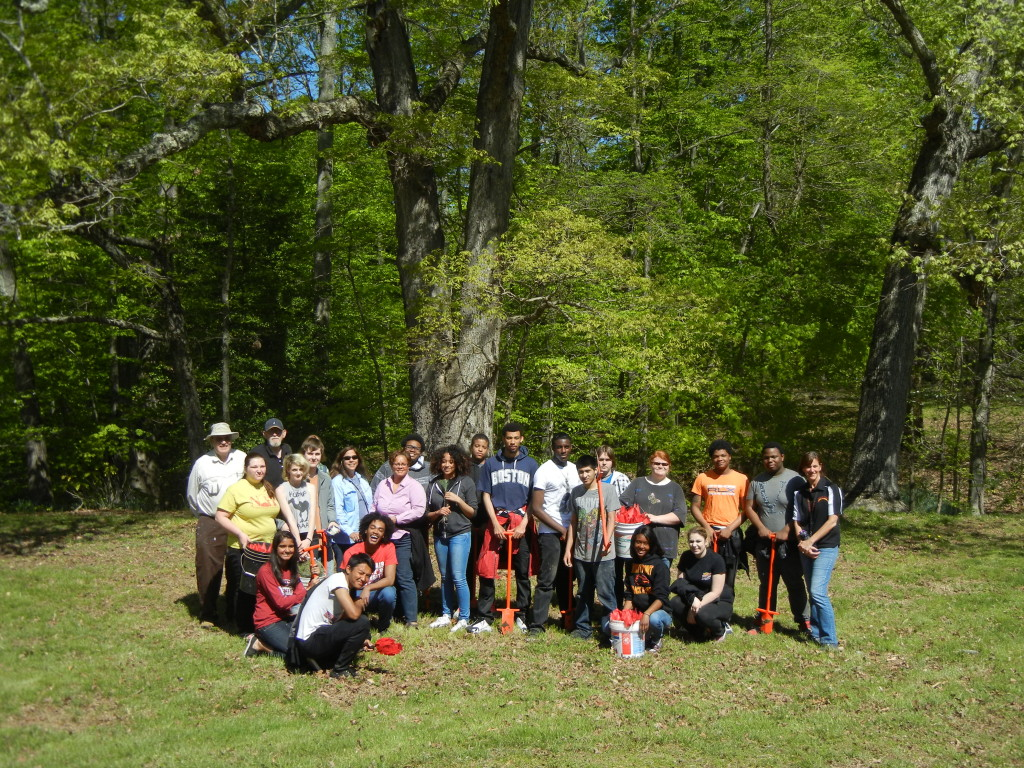 North Point High School Tree Planting Team