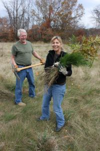 Volunteers planting trees in Port Tobacco Watershed