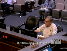 PTRC President Jerry Forbes testifying before the Charles County Planning Commission